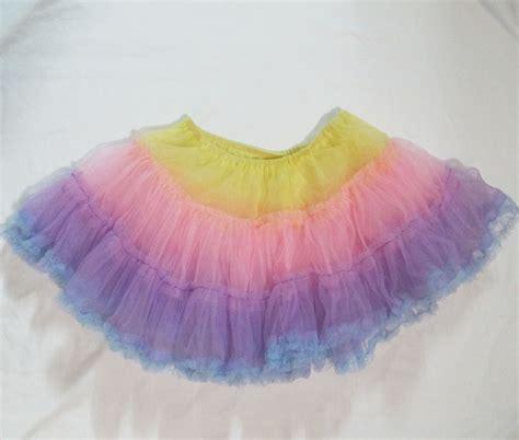 Rainbow Skirt 1 rainbow petticoat skirt tenshi shop