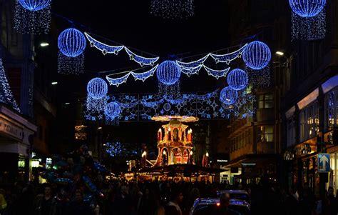 the christmas lights of birmingham city centre