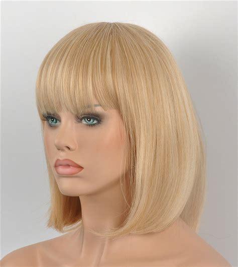 short blonde wigs for women dd002495 women new bob short natural straight blonde mix