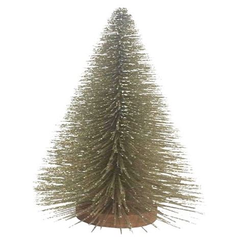 gold base bittle brush trees bottle brush tree with wood base chagne 15 quot target
