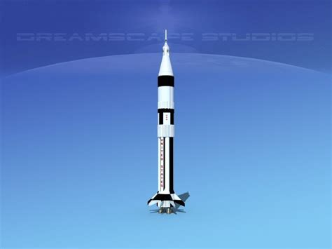 saturn 1b launch saturn 1b launch system 3d model rigged max 3ds lwo lw lws
