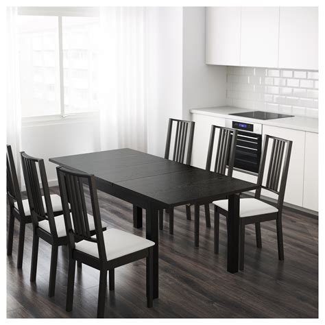 ikea dining table bjursta extendable table brown black 140 180 220x84 cm ikea