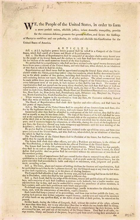 constitution printed for dissemination in new york state with george united states constitution of 1787