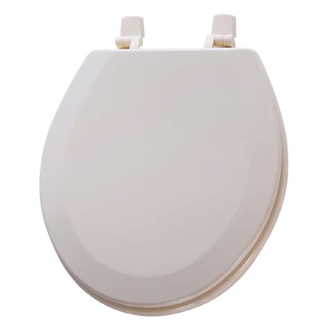potty toilet seat lowes shop aquasource biscuit wood toilet seat at lowes