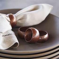 Moroccan Dining Room copper napkin rings set of 4 native trails
