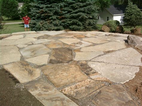 laramie brown flagstone is a great oklahoma flagstone