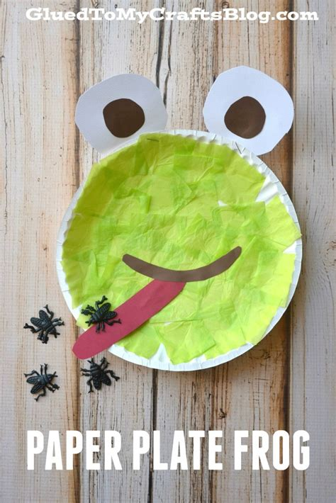 Frog Paper Plate Craft - paper plate frog kid craft
