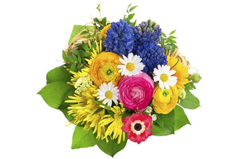 a florist is advertising five types of bouquets types of flower arrangement