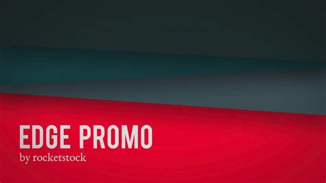 edge geometric promo after effects template