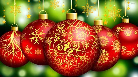 red christmas ornaments wallpaper holiday wallpapers