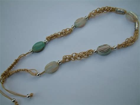 hemp bead necklace hemp beaded necklace hemp jewelry