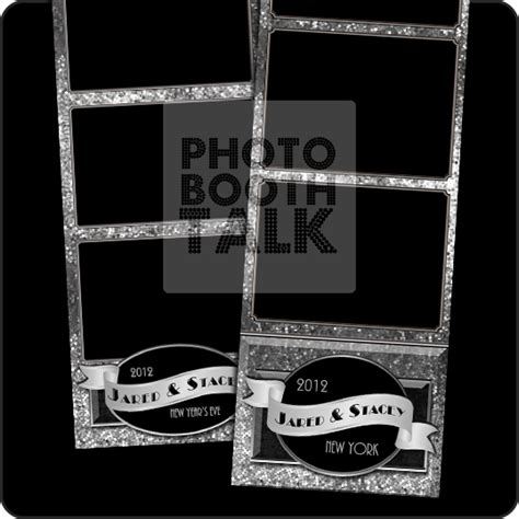 photo booth template psd glitterific silver by ci creative photo booth talk