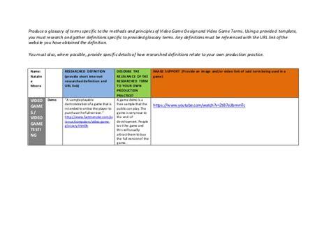 game design terminology y1 gd engine terminology worksheet 1