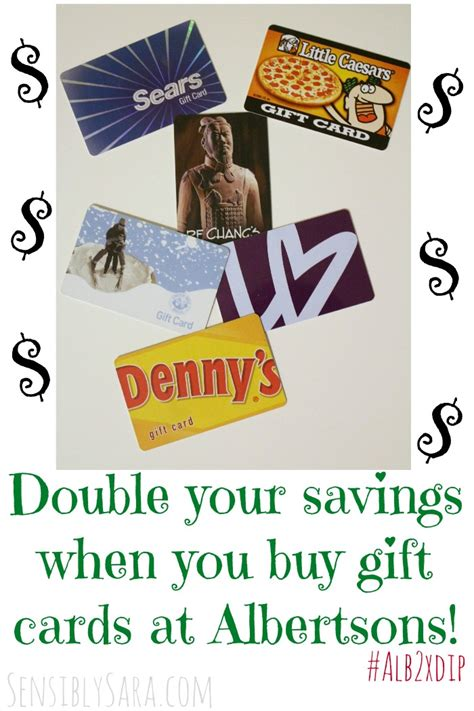 Buy My Gift Card - double your savings when you buy gift cards at albertsons alb2xdip