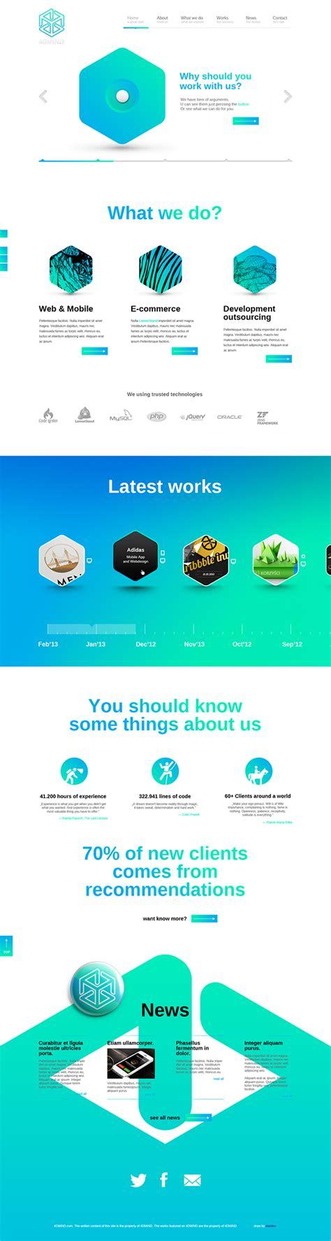 web layout behance 4dmind website on behance