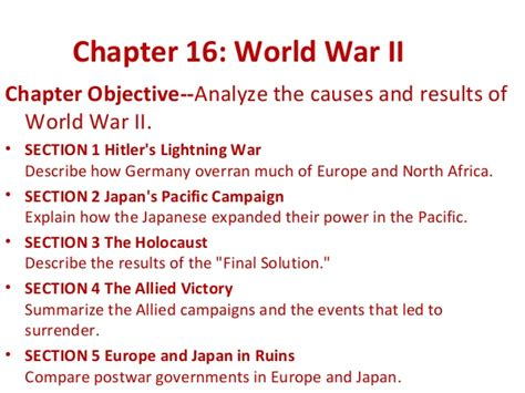 chapter 16 section 3 the holocaust ch16 wwii