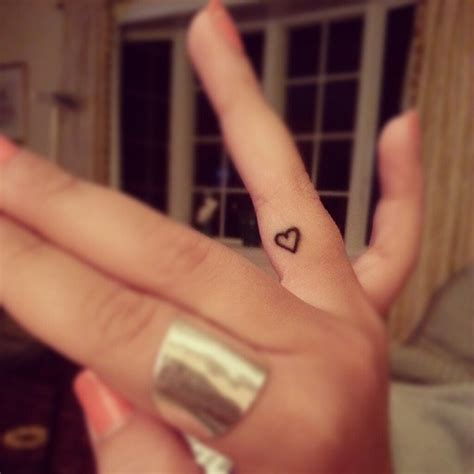 small cute finger tattoos for on finger side tattooshunt