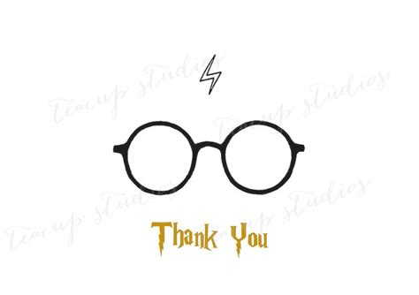 Printable Harry Potter Thank You Cards | printable harry potter thank you card pdf