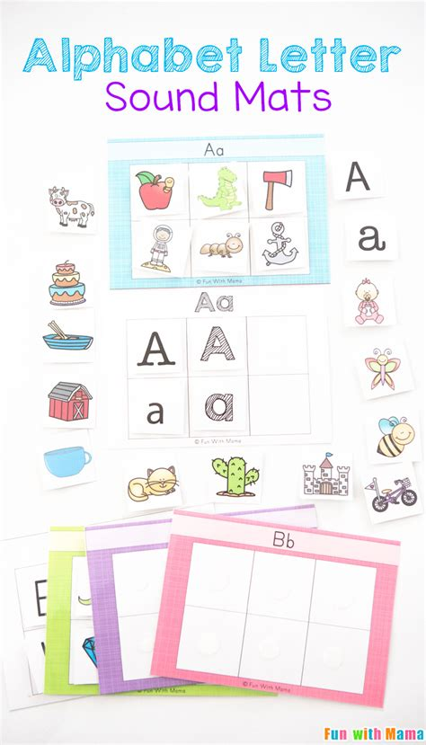 Letter Sounds alphabet letter sound mats with