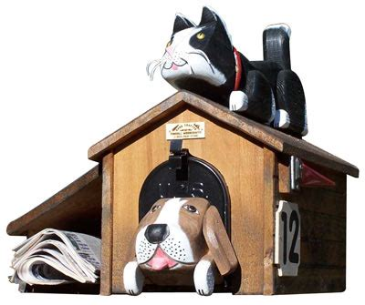 dog house mailbox cat and dog shaped mailboxes for sale at the mailboxworks