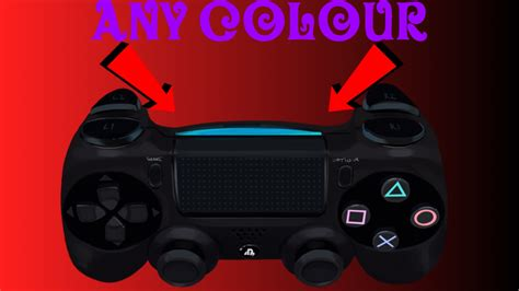 ps4 controller color change how to change your ps4 controller light to any colour