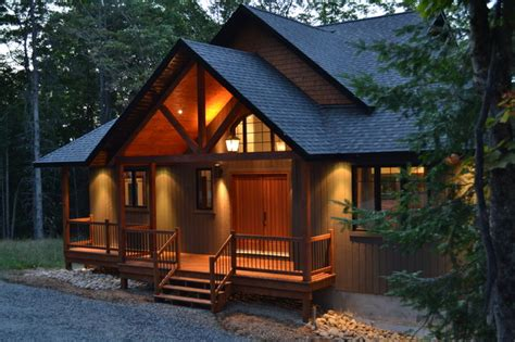 Cabin Style Houses 1 800 sq ft chalet traditional exterior