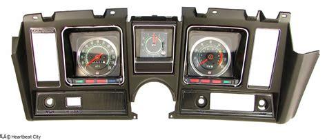 camaro dash carrier assembled  tach dash clock  mph black