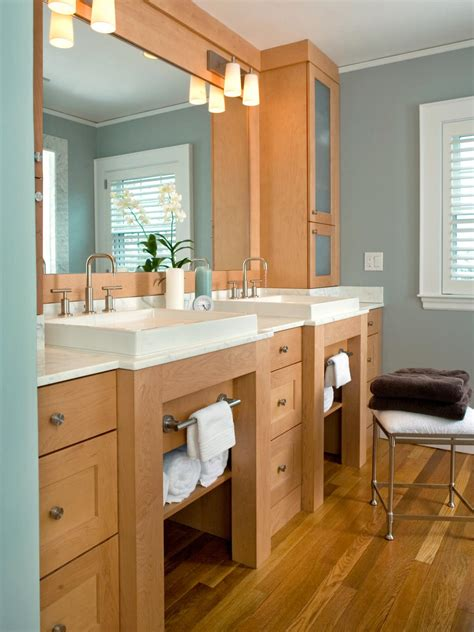 Bathroom Vanity With Storage 18 Savvy Bathroom Vanity Storage Ideas Bathroom Ideas Designs Hgtv