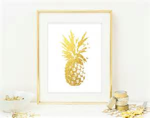 pineapple wall print modern chic home decor by
