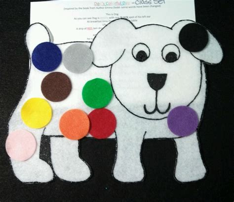dogs colorful day felt flannel board story s colorful day preschool