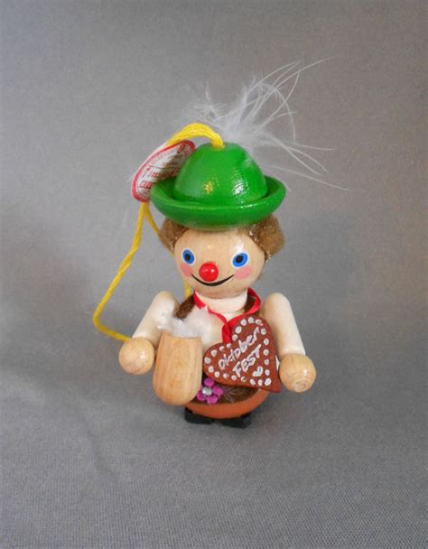 hand made in germany wood ornaments steinbach steinbach handmade wood ornament lederhosen hans oktoberfest with box in x sold