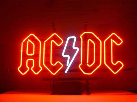 new ac dc ac dc pinball real glass neon light sign home