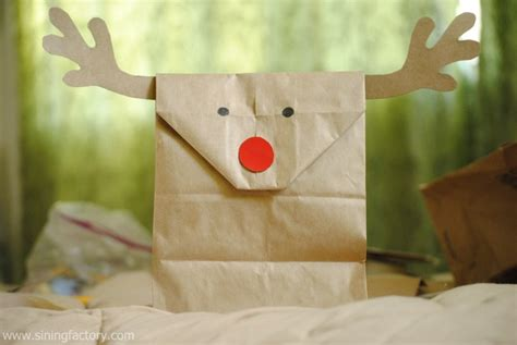 brown paper bag gift wrap brown paper bag reindeer gift wrapping sining factory