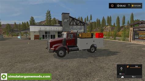 kenworth service center fs17 kenworth service truck v1 simulator mods