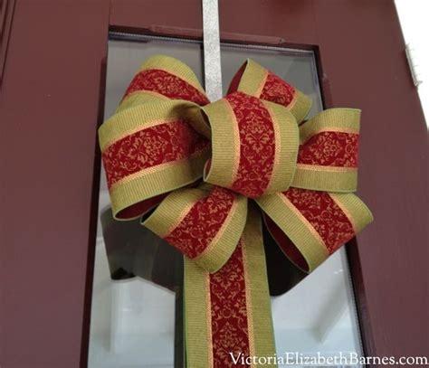 bow  step  step tutorial christmas
