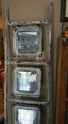 ladder  pictures frames primitive crafts home
