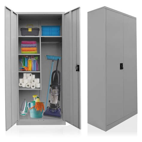 Cleaning Supplies Cabinet by Cleaning Supplies Cabinet Steel Broom Closet Linen