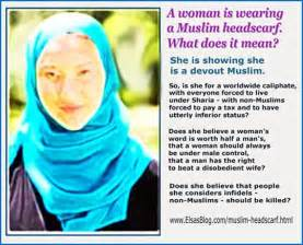 muslim headscarf headwear what does this stand for