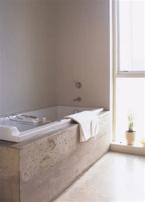 concrete bathtub polished concrete tub surround bathroom ideas pinterest