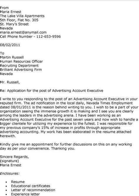 advertising account executive cover letter cover letter for account manager account manager cover
