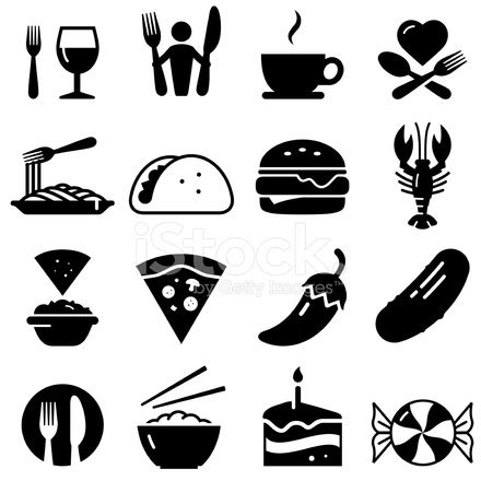 Restaurant Icons Black Series Stock Vector   FreeImages.com