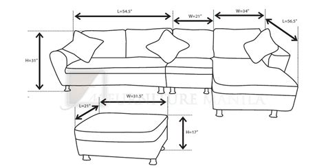 Dimensions Of L Shaped Sofa by Furniture Manila