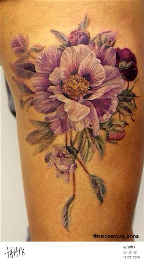 vintage flower tattoo best 268 flower tattoos images on other