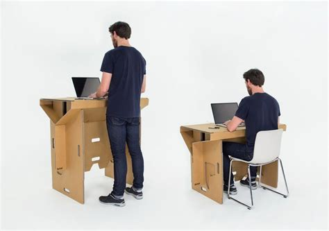 cardboard standing desk portable standing desk that is made from cardboard