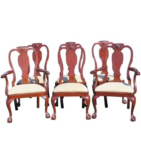 Henkel Harris Dining Chairs Six Henkel Harris Mahogany Dining Chairs For Sale At 1stdibs