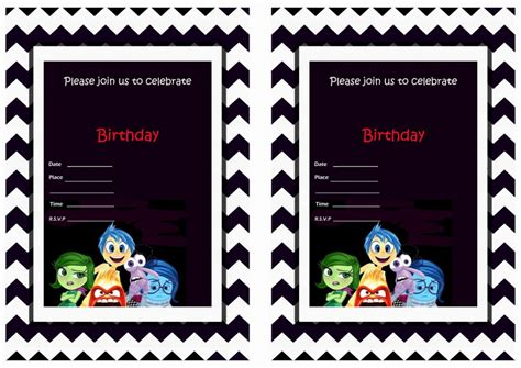 inside out printable party decorations inside out birthday invitations birthday printable