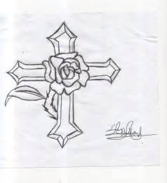 Drawings of flowers and crosses drawings of flowers and