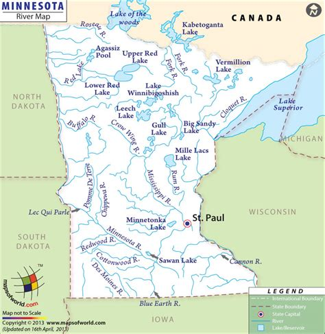 minnesota on the map of usa rivers in minnesota minnesota rivers map