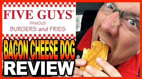 five guys dogs five guys burgers and fries bacon cheese review with co host ben from