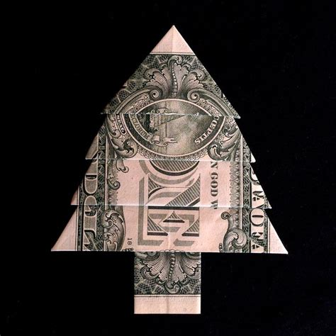 origami money christmas origami trees and money origami on